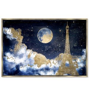 Oliver Gal Favorite City Sky Framed Canvas Art